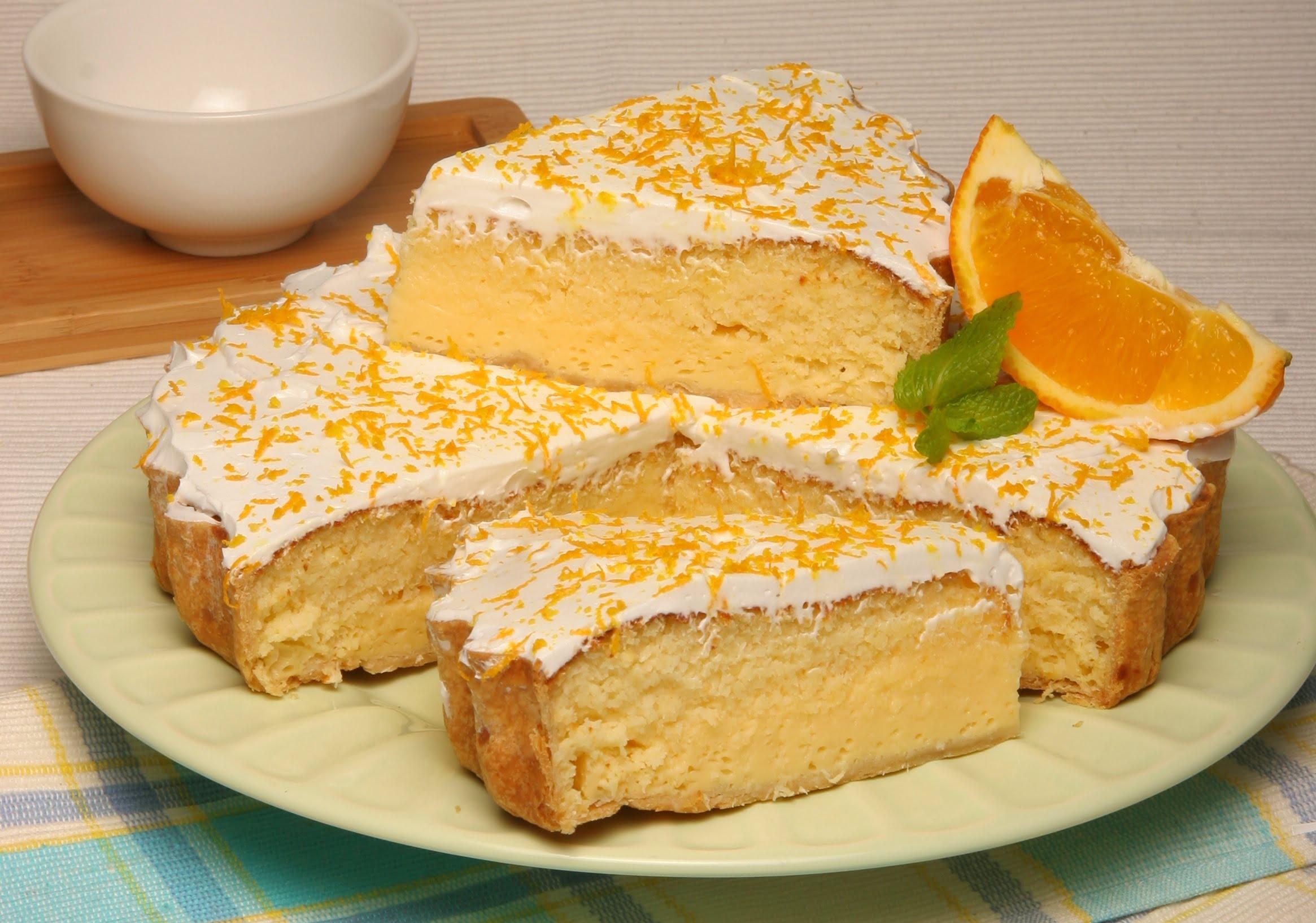 tarte de coco e laranja teleculinaria
