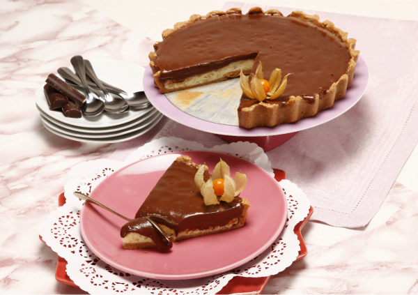 tarte de dois chocolate