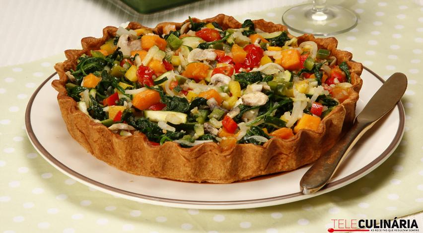 tarte de legumes salteados