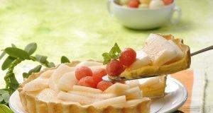 tarte de meloa e melão
