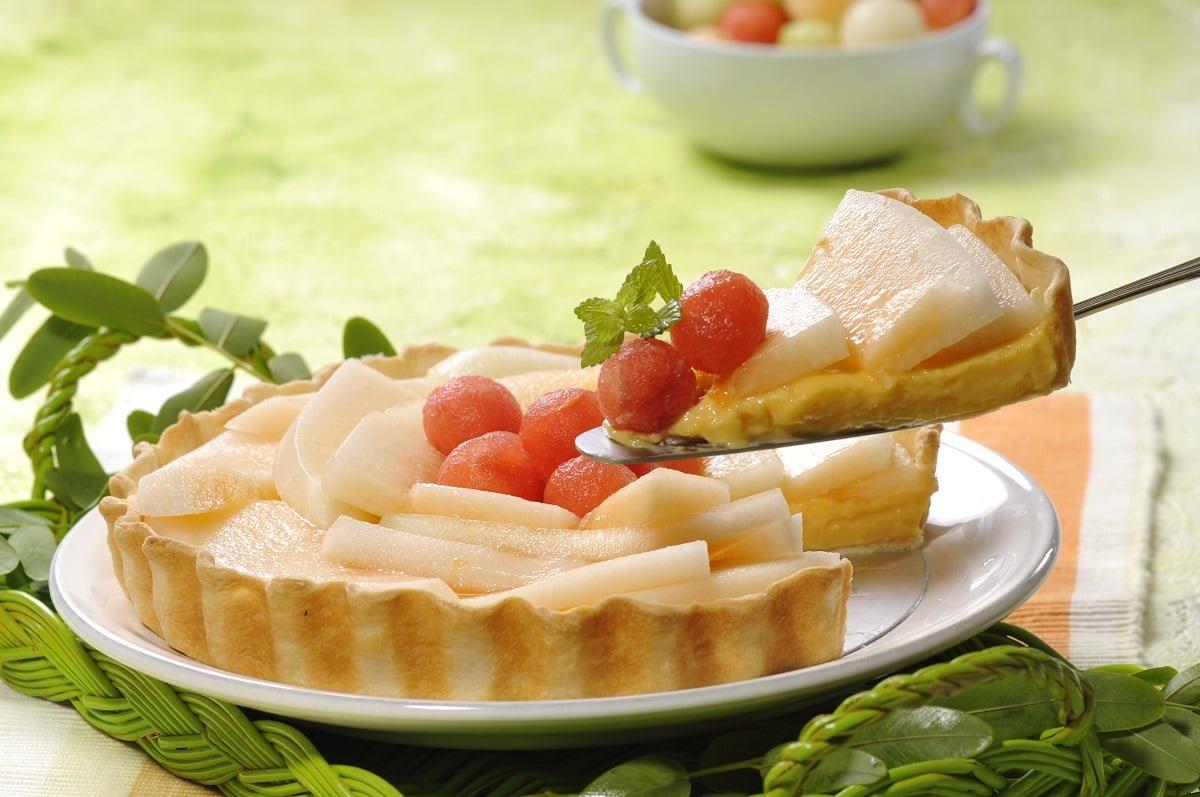 tarte de meloa e melao