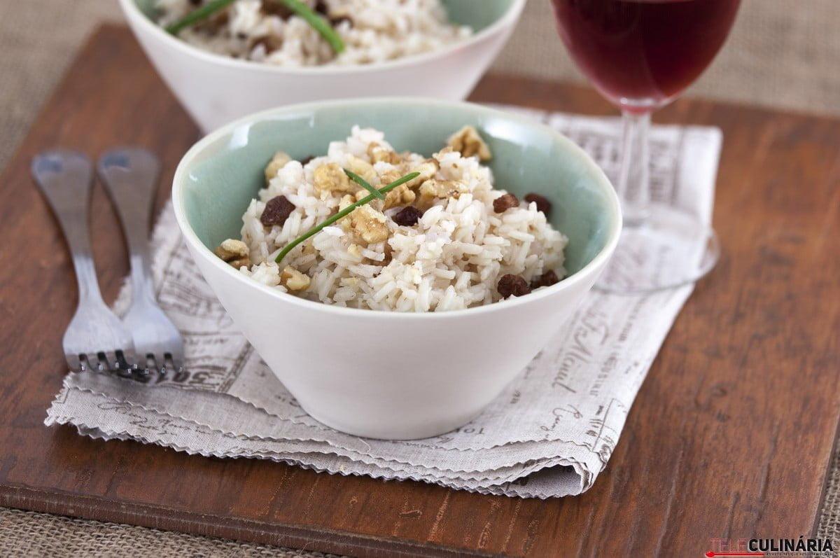 arroz de passas e nozes