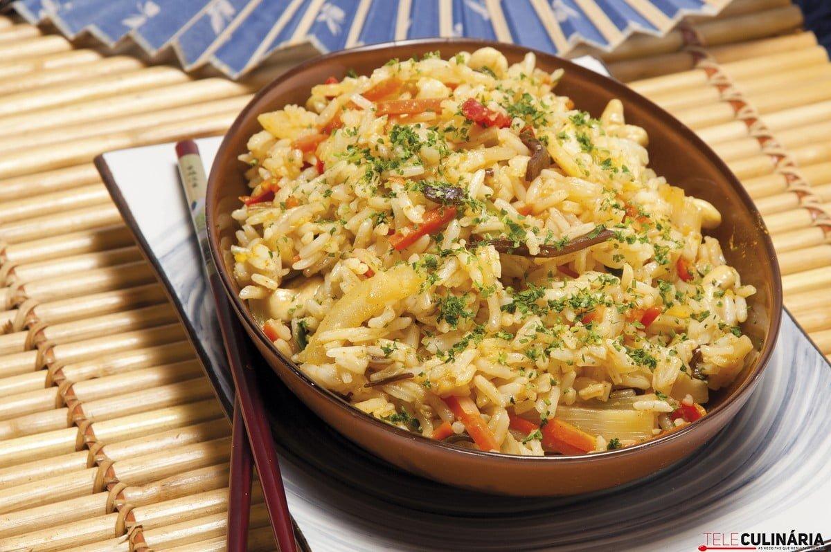arroz frito a oriental