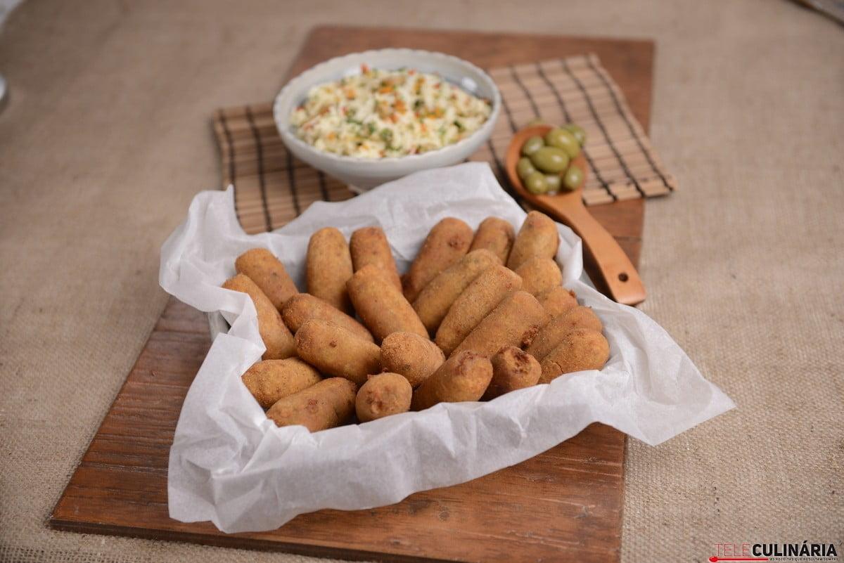 croquetes de farinheira e azeitona com arroz de legumes1