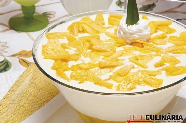 doce fresco de ananas
