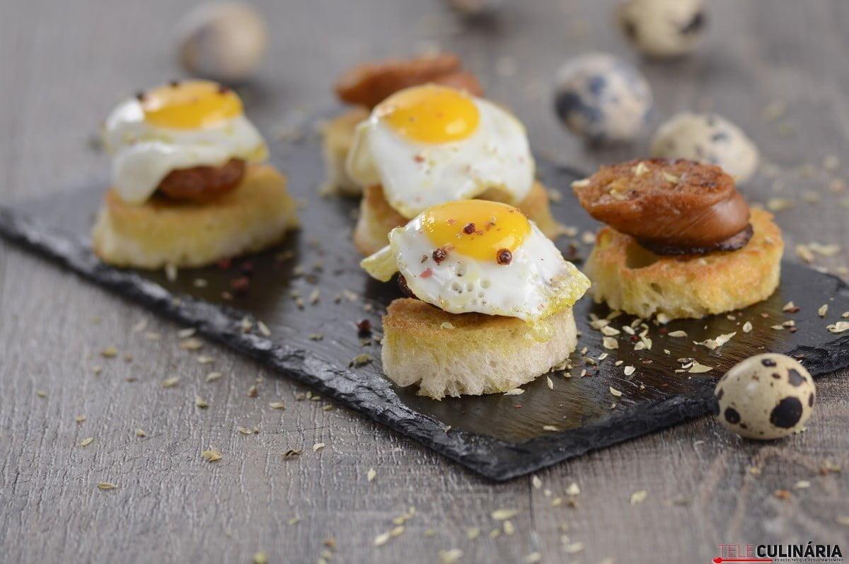 farinheira com ovos de codorniz