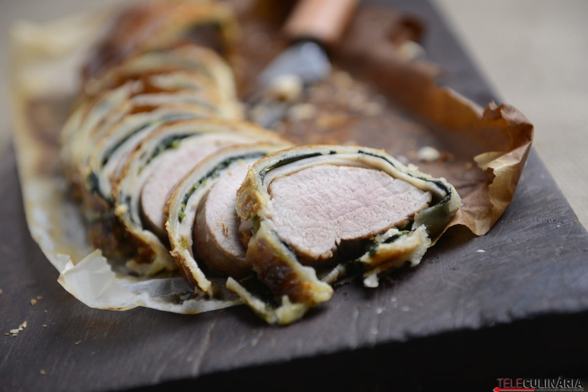 wellington de porco com espinafres e fiambre de peru9