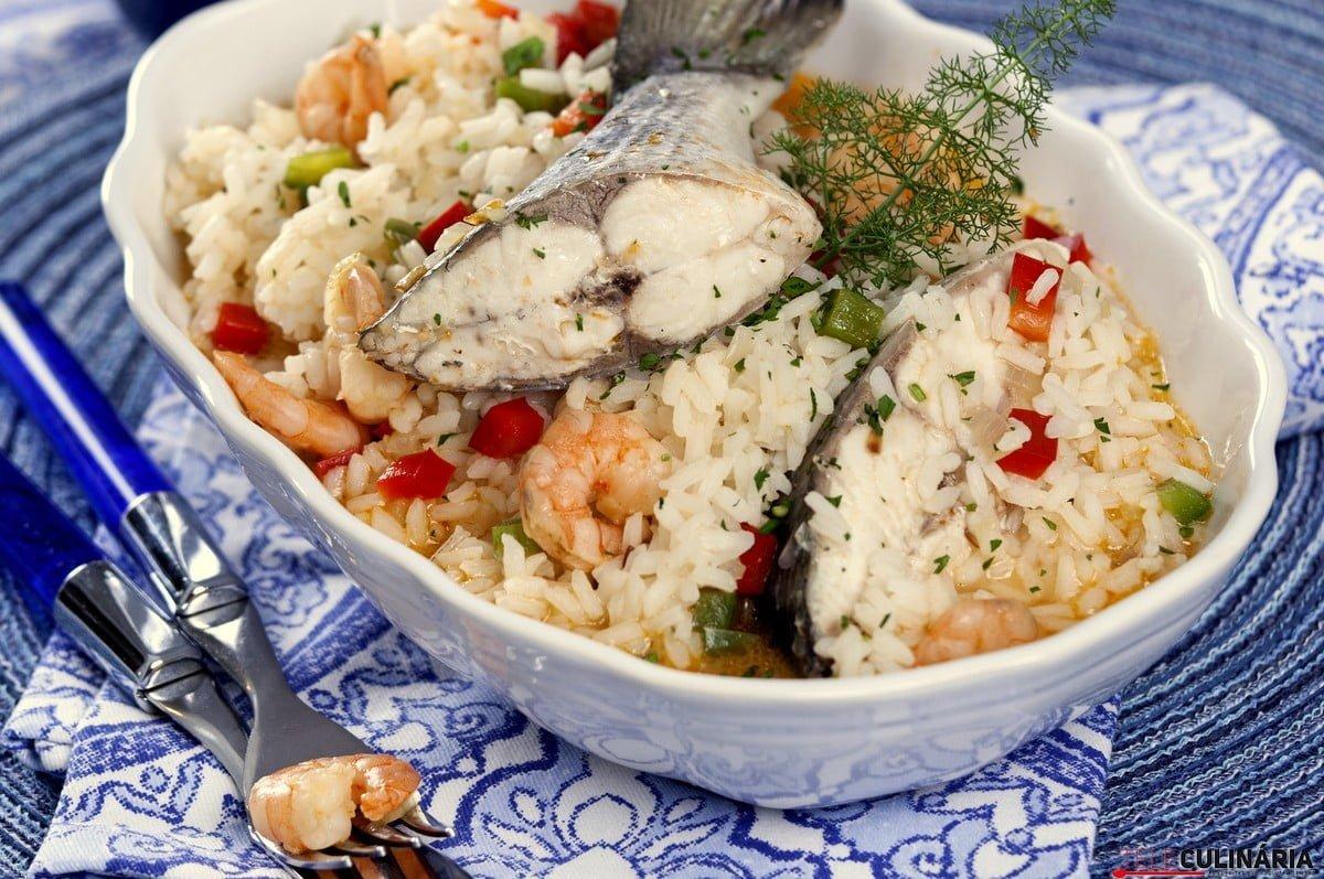 arroz de dourada com camarao