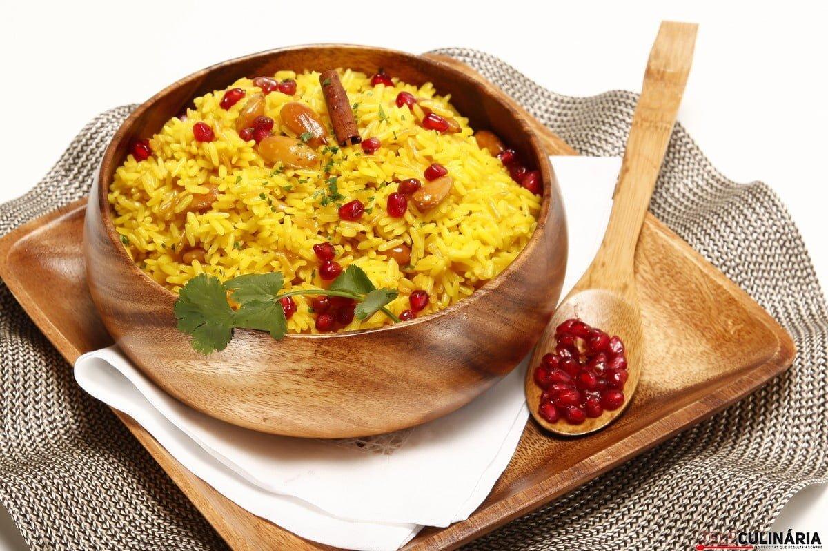 arroz vaporizado com especiarias
