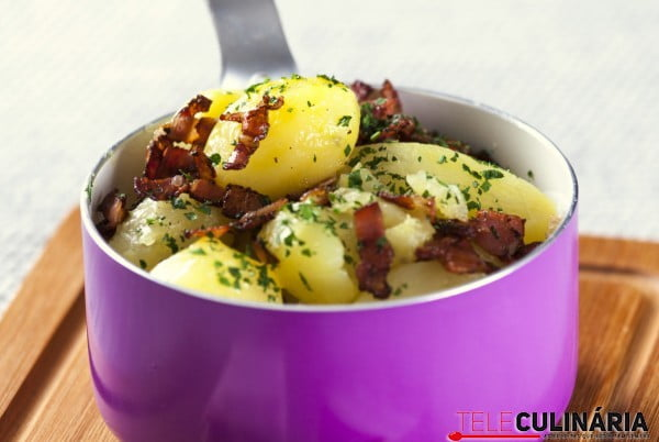 batatas assadas com bacon