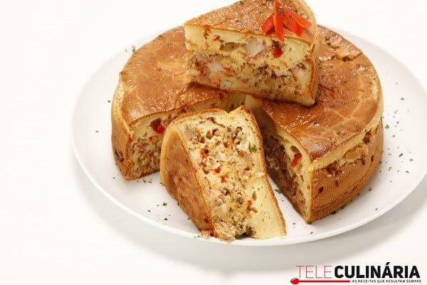 bolo de atum com delicias do mar