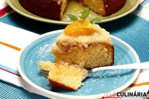 bolo de laranja com coco