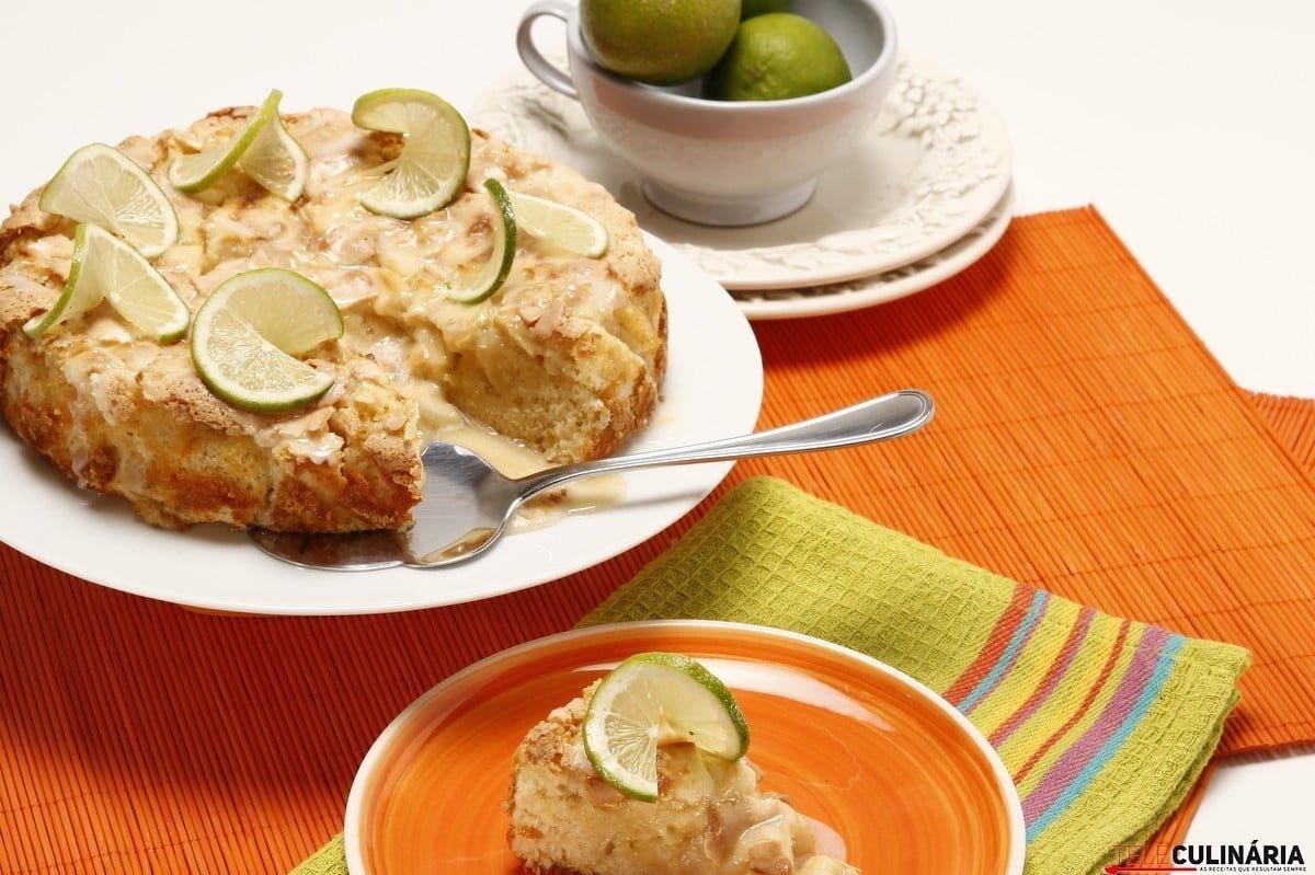 bolo de maca e lima