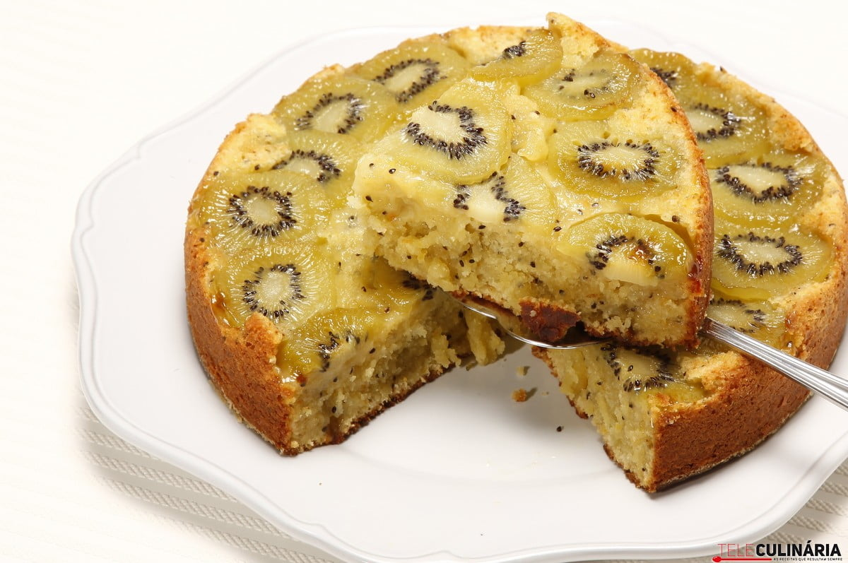 bolo delicia de kiwi