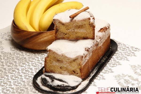 bolo delicioso de banana