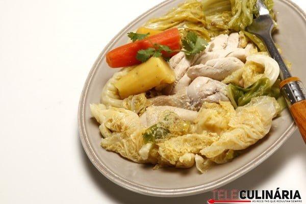 cozido de frango batata doce e hortalicas