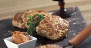 Hambúrguer de frango com farinheira