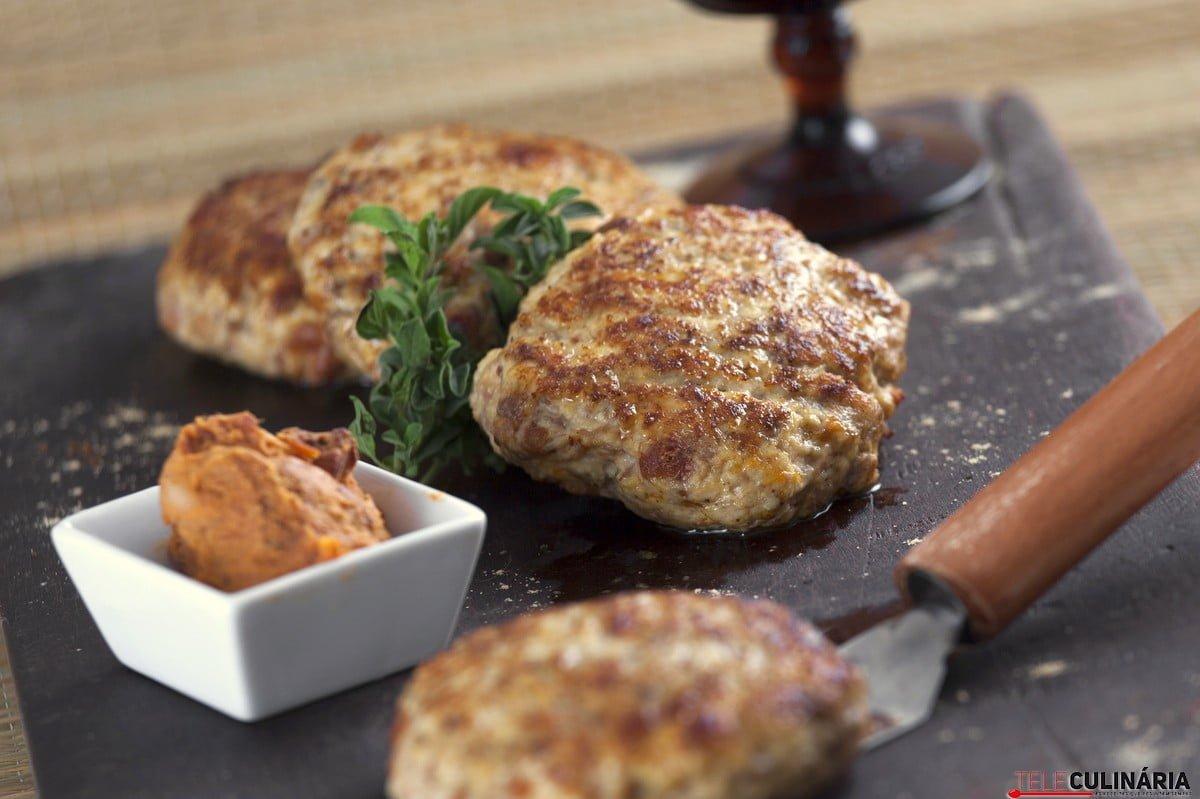 hamburguer de frango com farinheira