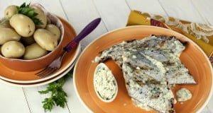 Peixe-espada com molho de manteiga