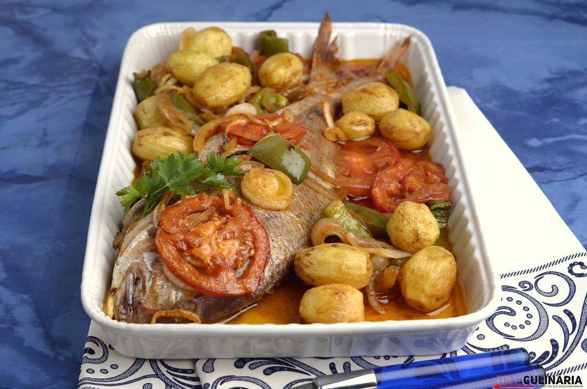 peixe no forno a portuguesa