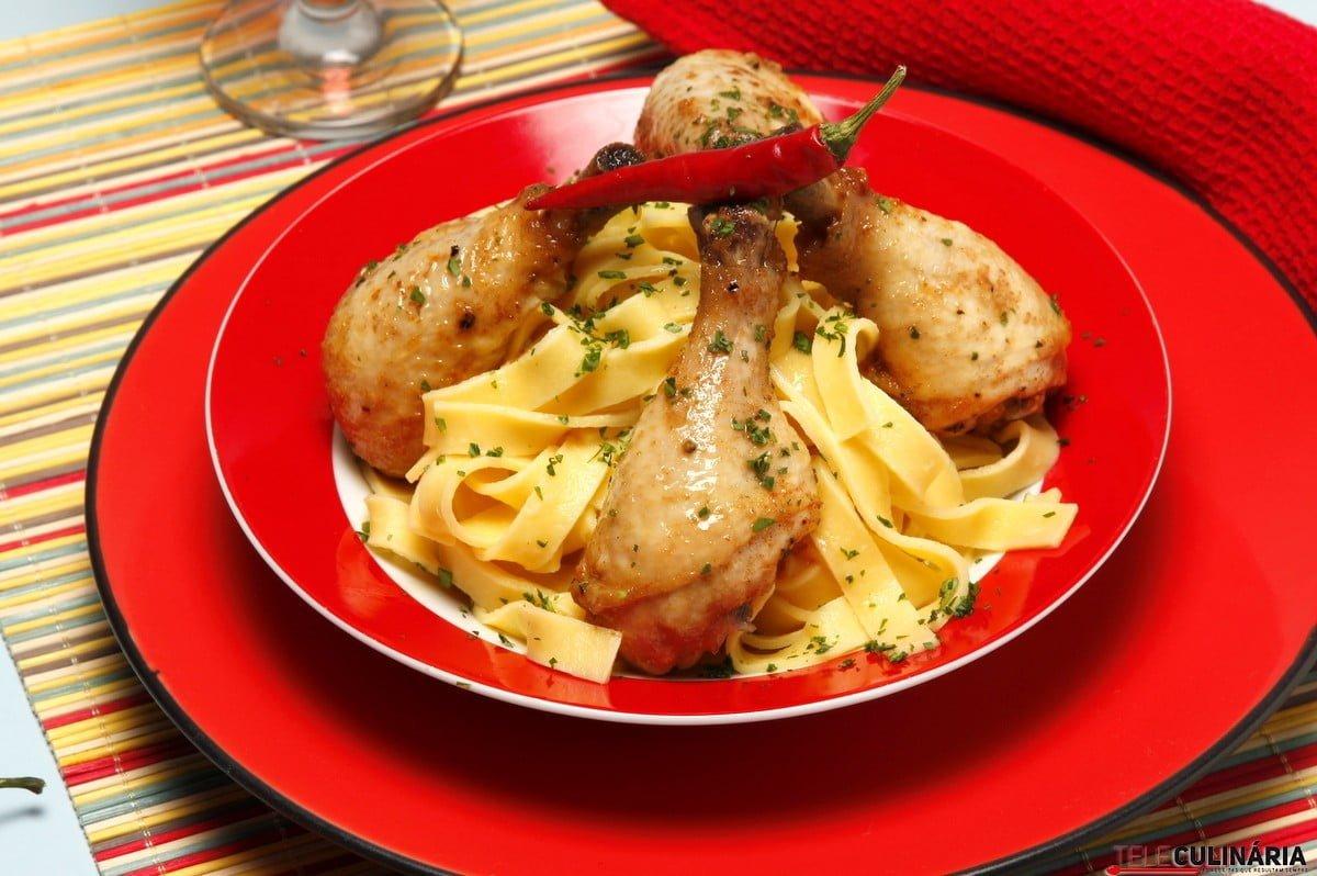 presuntinhos de frango com molho picante