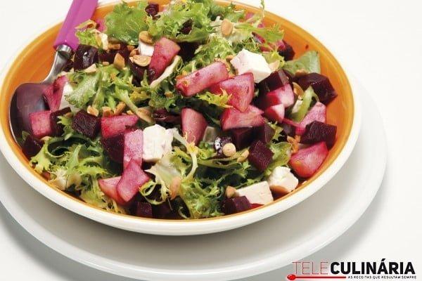 salada de beterraba maca e queijo feta
