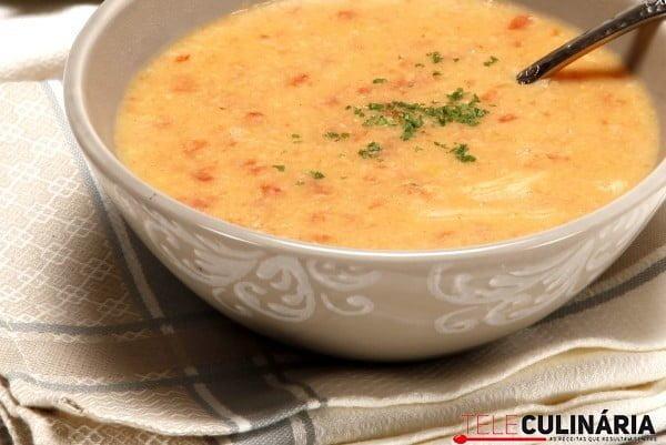 sopa de grao com farinheira