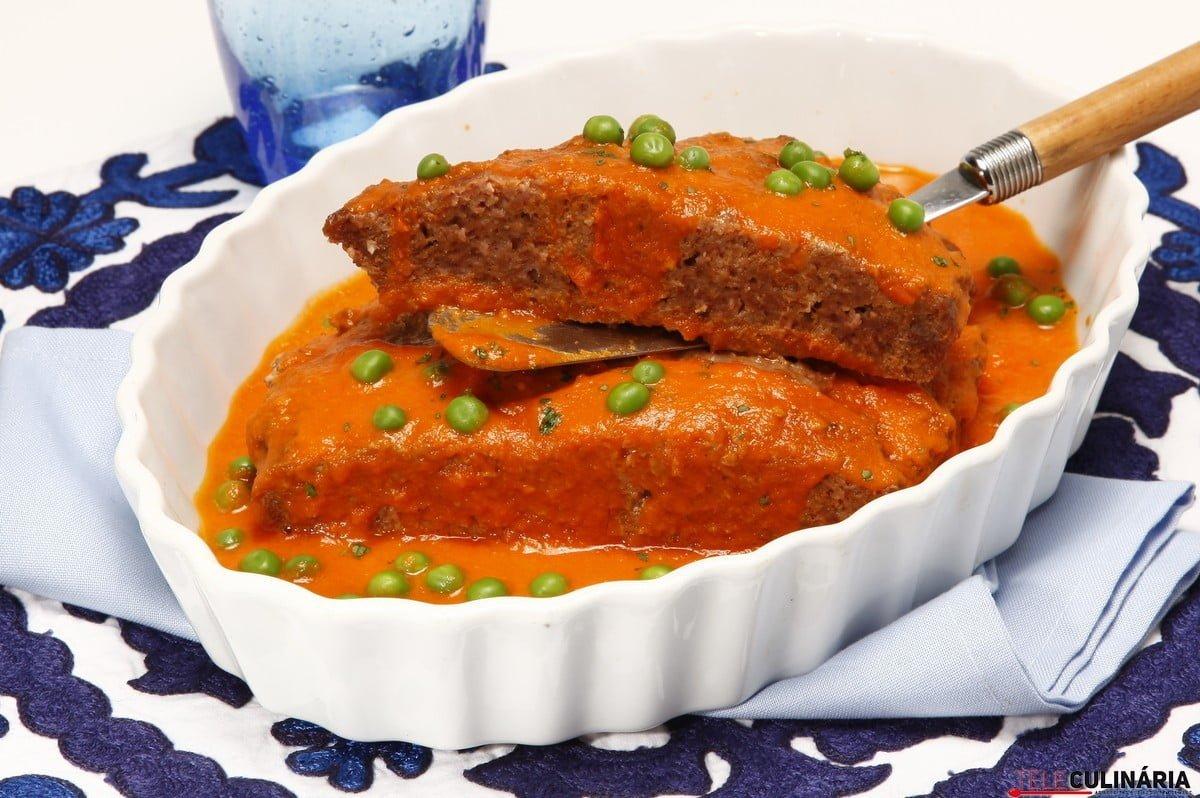 tarte de carne com ervilhas