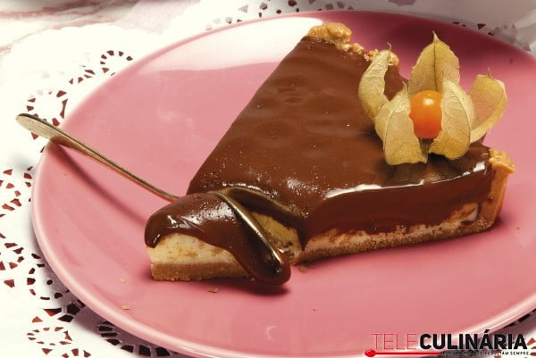 tarte de dois chocolates