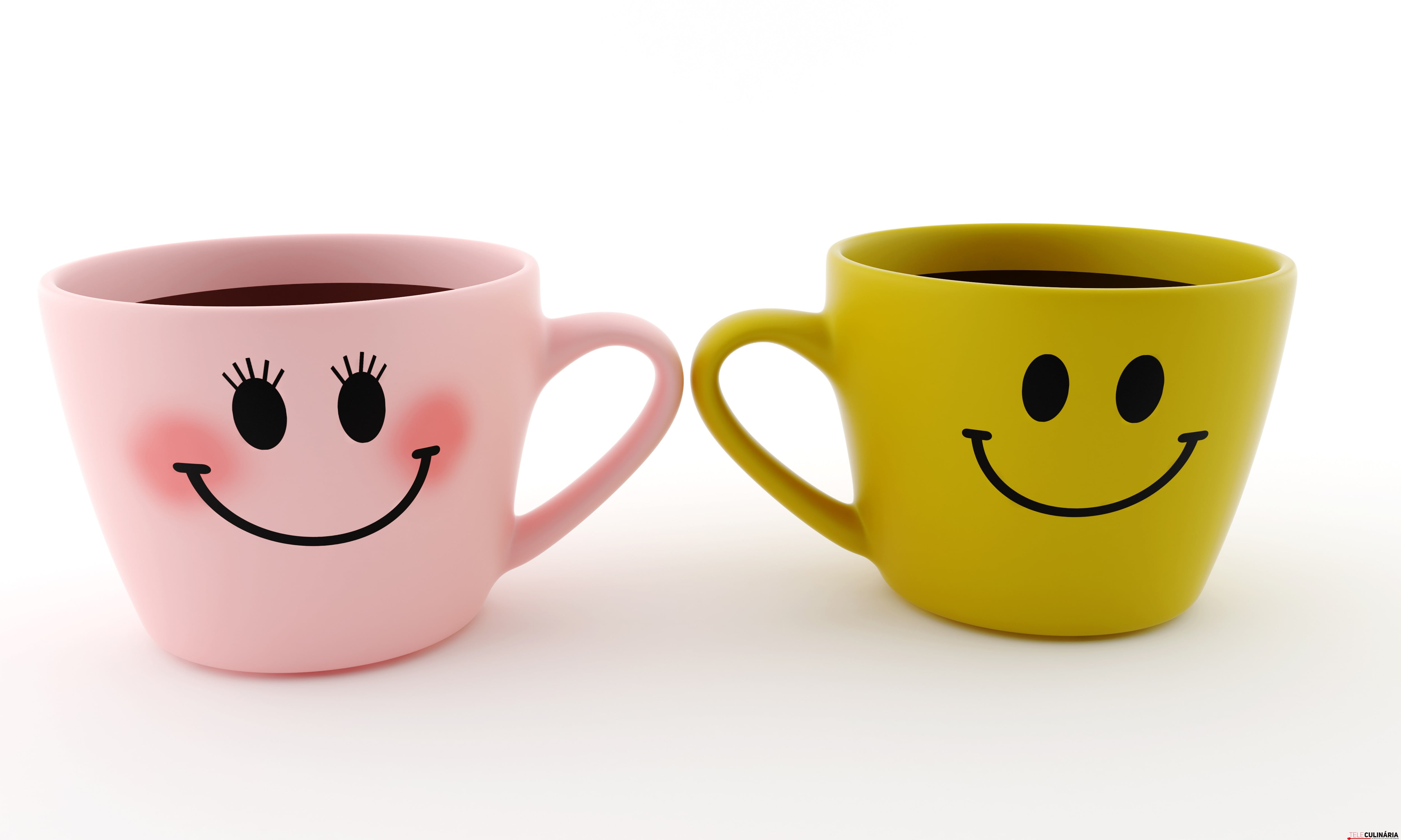 Funny cup - smiles on a white background isolated