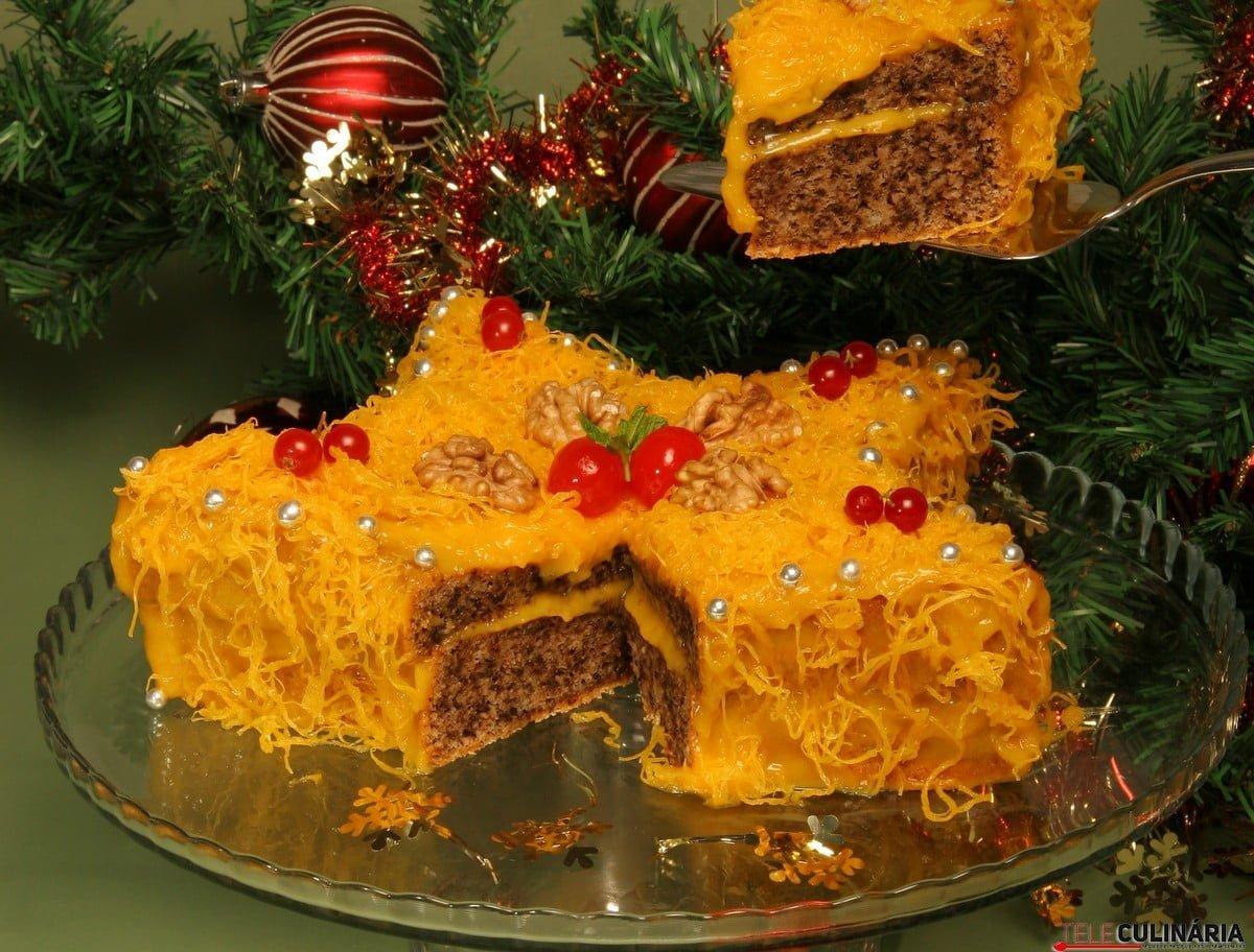 bolo estrela de natal