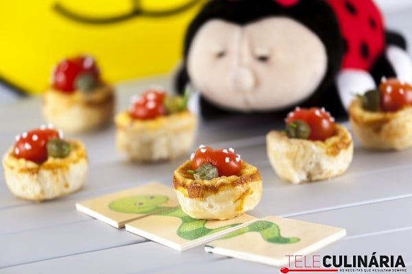 Quiches Mini de Queijo e Fiambre
