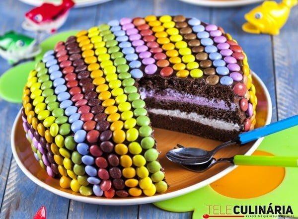Bolo de Chocolate com Pintarolas TC
