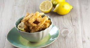Choco frito com limão