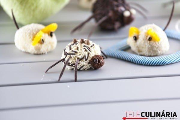 Trufas de Coco e Chocolate