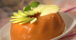 Gelatina de cenoura e maçã