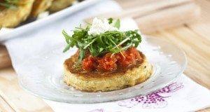 Panquecas de Batata com Tomate
