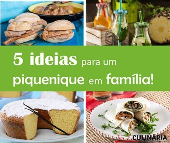 5 ideias para um piquenique em familia