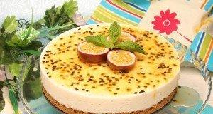 Cheesecake de maracujá magro