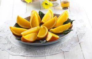 Gelatina de laranja na casca