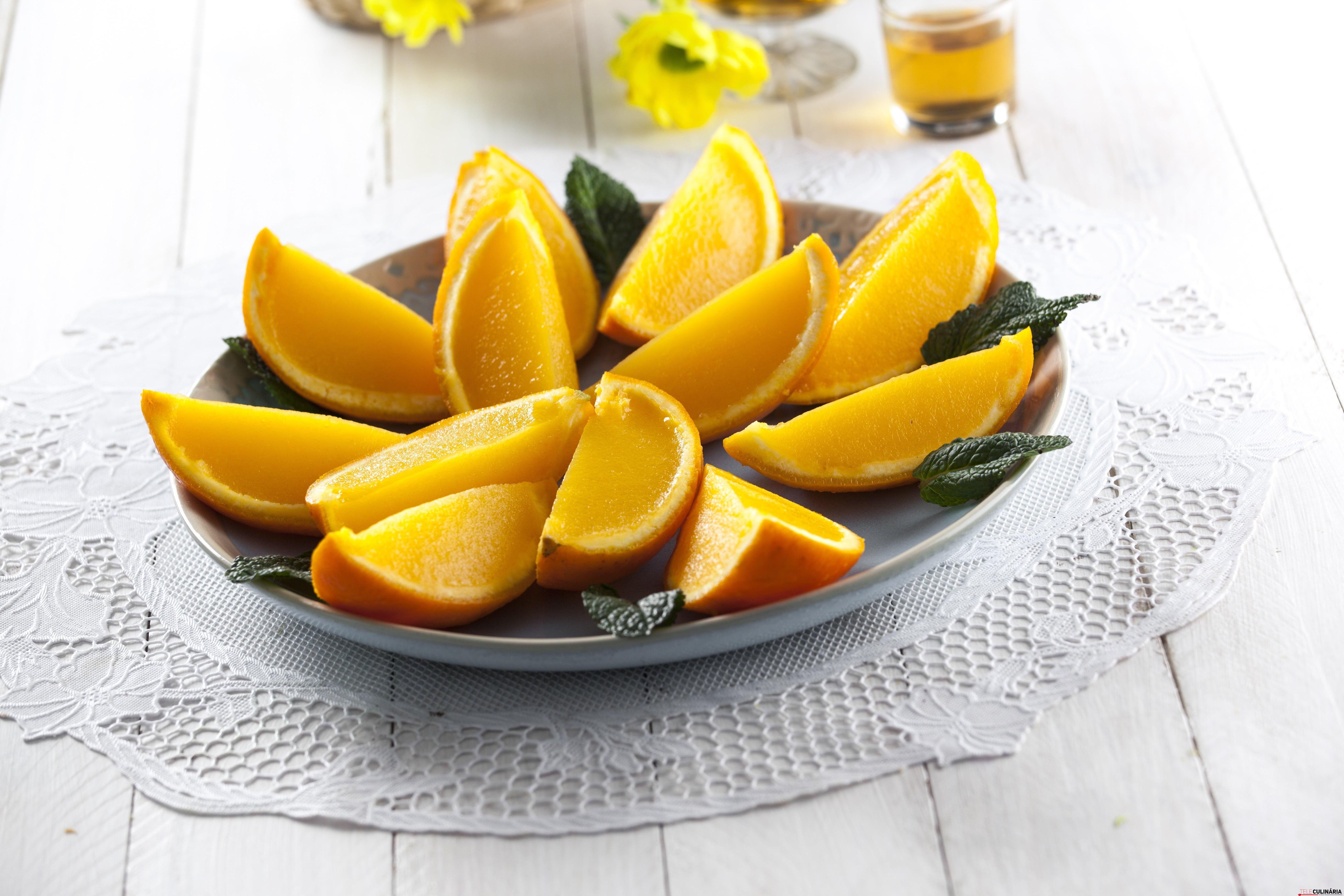 Gelatina de laranja na casca CHAA 5