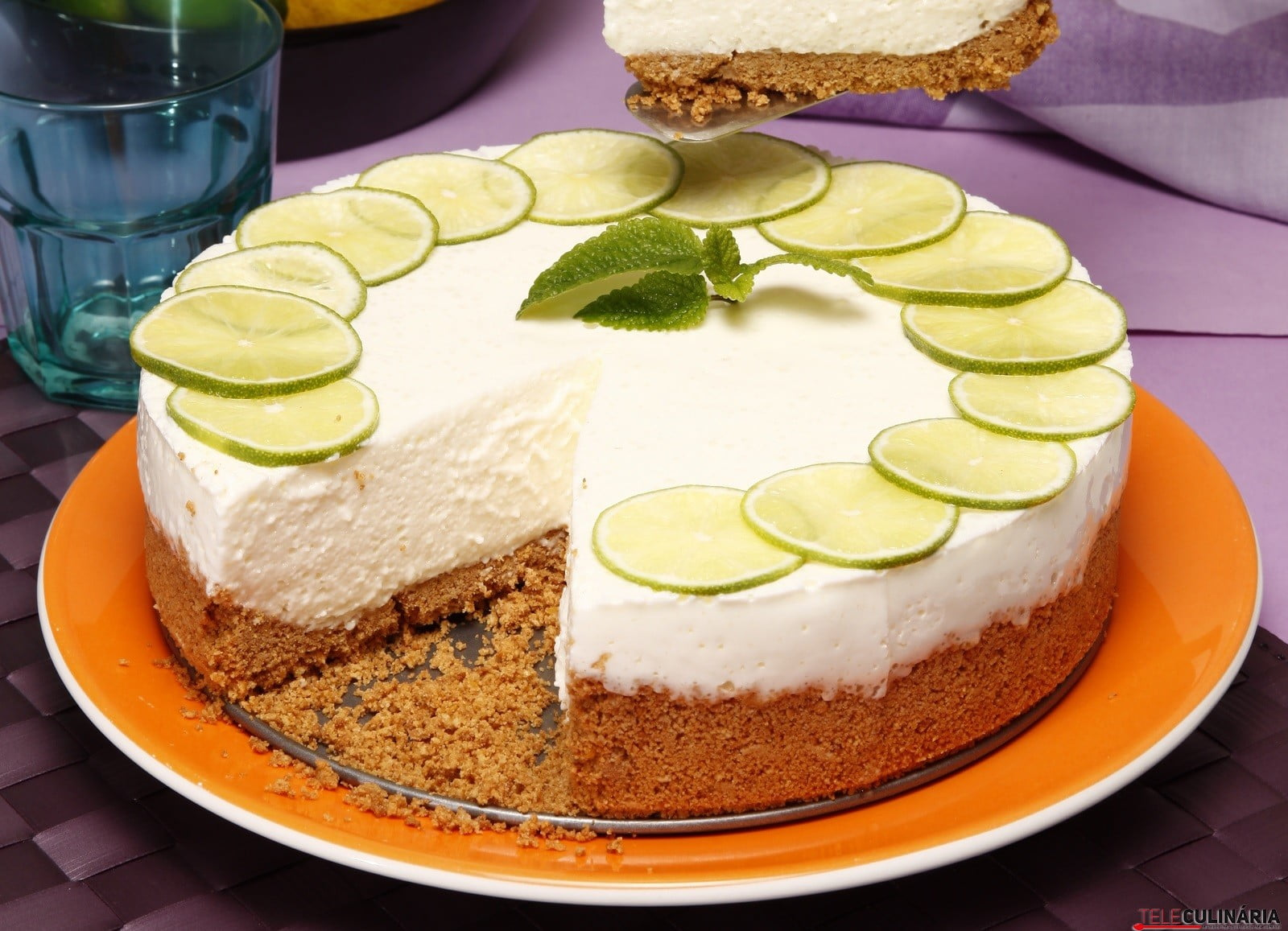 cheesecake de limao teleculinaria