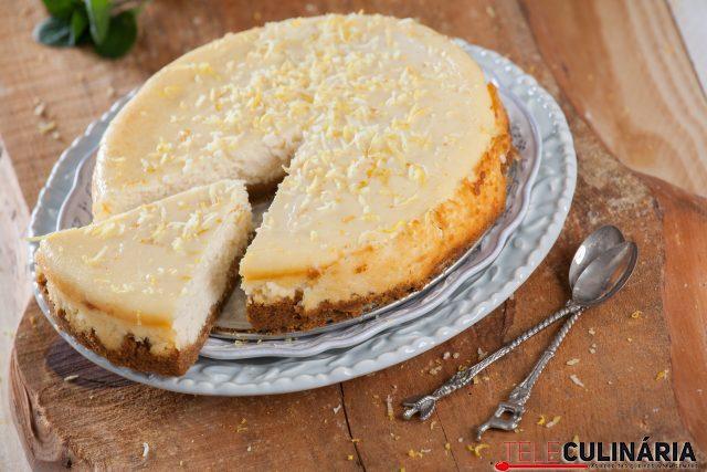 receita de Cheesecake de limão no forno