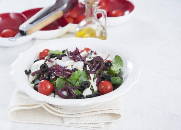 Salada de bacalhau com compota de cebola roxa CHPS 12