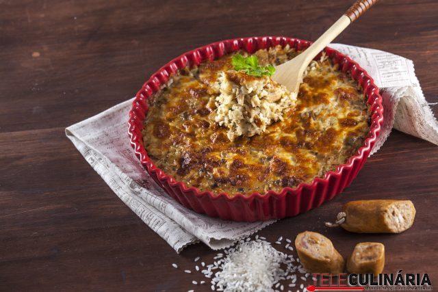 Receita de arroz de frango e alheira