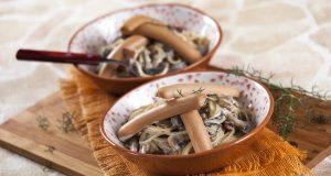 Carbonara com Salsichas