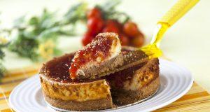 Cheesecake com Compota de Tomate