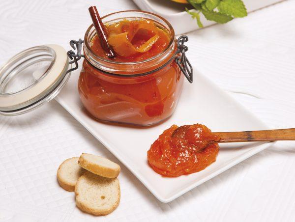 Compota de abóbora com canela e laranja