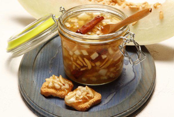 Compota de melao com amendoa e canela 9