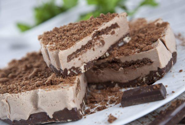 semifrio de salame de chocolate